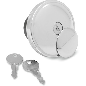 Drag Specialties Screw-In Locking Gas Cap for 1984-1996 Harley - Chrome
