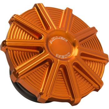 Arlen Ness 10-Gauge Vented Gas Cap for 1997-2020 Harley - Orange