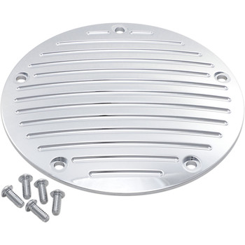 Pro One Performance Ball-Milled Millennium Derby Cover for 1999-2018 Harley Big Twin - Chrome