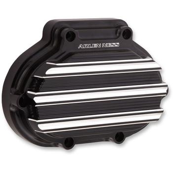 Arlen Ness 10-Gauge Transmission Side Cover for Harley Twin Cam - Black/Machined