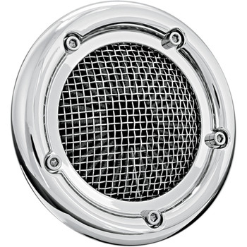 Crusher Velociraptor Air Cleaner for 1999-2017 Harley Twin Cam Dual Cable - Chrome