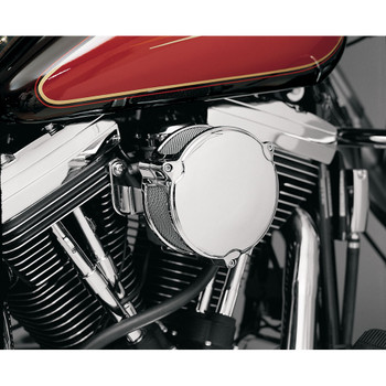 "Drag Specialties High Performance 6"" Dragtron II Air Cleaner for 1999-2006 Harley CV Carbs - Chrome"