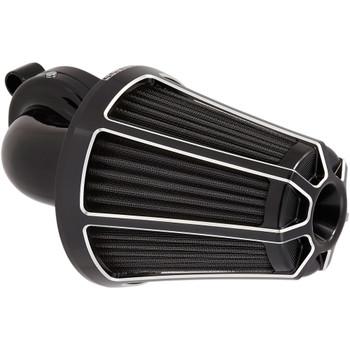 Arlen Ness Beveled Monster Sucker Air Cleaner for 2008-2016 Harley Twin Cam Electronic Throttle - Black