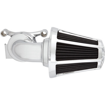 Arlen Ness Beveled Monster Sucker Air Cleaner for 2001-2017 Harley Twin Cam Dual Cable - Chrome