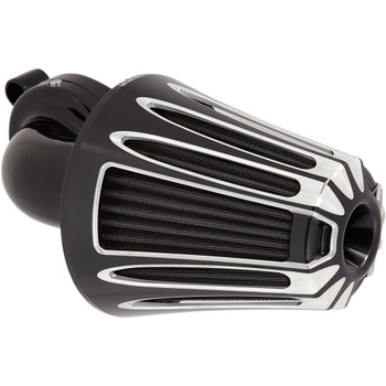 Arlen Ness Deep Cut Monster Sucker Air Cleaner for 2001-2017 Harley Twin Cam Dual Cable - Black
