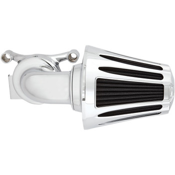 Arlen Ness Deep Cut Monster Sucker Air Cleaner for 2001-2017 Harley Twin Cam Dual Cable - Chrome