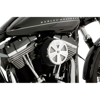 Vance & Hines Chrome Air Cleaner Cover For VO2 Naked & Round Air Cleaners - Skullcap Crown