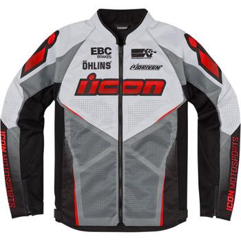 Icon Hooligan Ultrabolt Jacket - Red