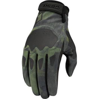 Icon Hooligan Gloves - Battlescar Green