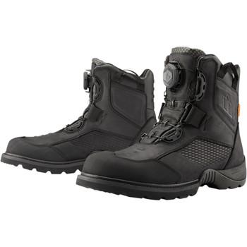 Icon Stormhawk Waterproof Riding Boots - Black