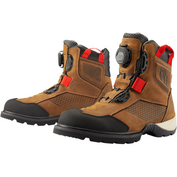 Icon Stormhawk Waterproof Riding Boots - Brown