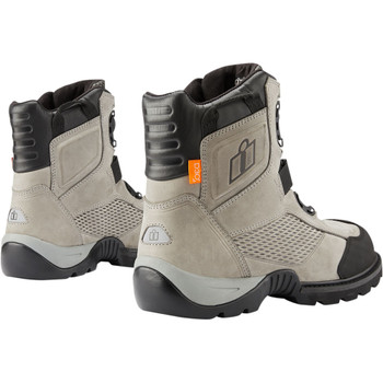 Icon Stormhawk Waterproof Riding Boots - Gray
