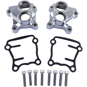 Drag Specialties Chrome Tappet Block Covers 1999-2017 Harley Twin Cam