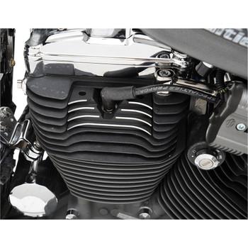 Drag Specialties Wrinkle Black Finned Spark Plug/Head Bolt Covers for 2004-2020 Harley Sportster