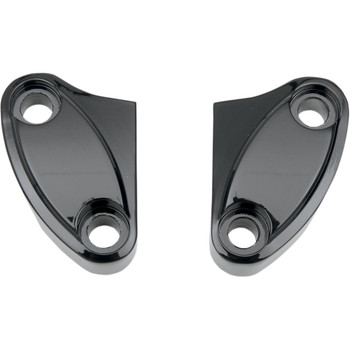 Drag Specialties Black Two-Piece Handlebar Riser Clamp for Harley
