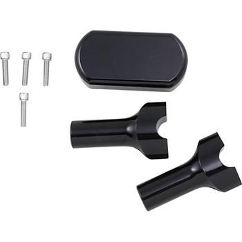 "LA Choppers 4"" Handlebar Riser/Top Clamp Kit - Gloss Black"