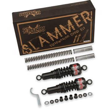 Burly Black Slammer Lowering Kit for 2006-2017 Harley Dyna