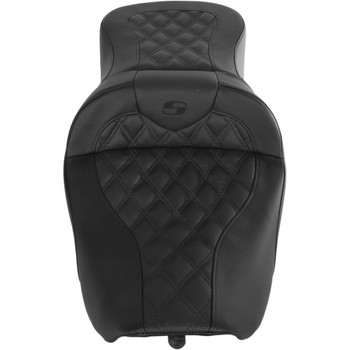 Saddlemen Road Sofa Seat for 1997-2007 Harley Touring FLHR/FLHX - Lattice Stitch