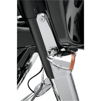 Drag Specialties Turn Signal Relocation Mounts for 1997-2013 Harley Touring