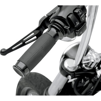 Todds Cycle Black Vice with Rubber Hand Grips for Harley Dual Cable