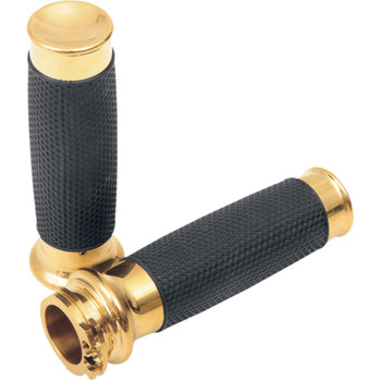 Todds Cycle Brass Vice with Rubber Hand Grips for Harley Dual Cable