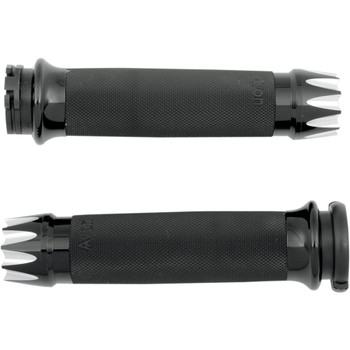 Avon Custom Contour Excalibur Grips for Harley Dual Cable - Black