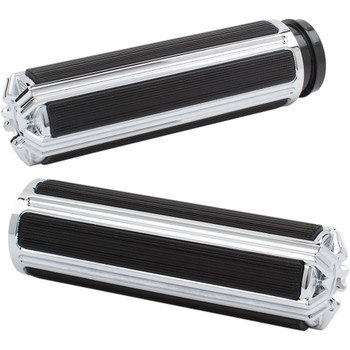 Arlen Ness 10-Gauge Comfort Grips for Harley Dual Cable - Chrome