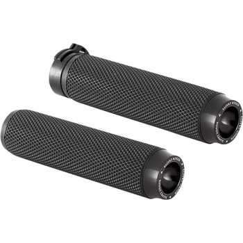 Rough Crafts Grips for Harley Dual Cable - Black