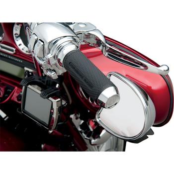 Performance Machine Elite Grips for Harley Electronic Throttle - Chrome