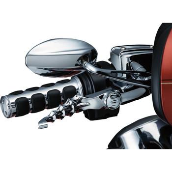 Kuryakyn Premium ISO-Grips for Harley Electronic Throttle - Chrome