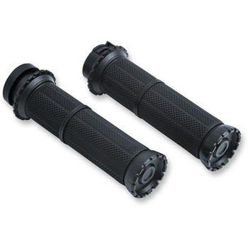 Kuryakyn Riot Grips for Harley Dual Cable - Black