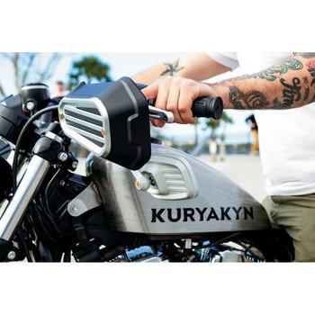 Kuryakyn Dillinger Handguards for 2004-2020 Harley Sportster - Silver