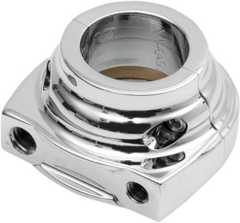 Performance Machine Throttle Housing for 1999-2020 Harley Dual Cable w/ Thread-In Cables - Chrome