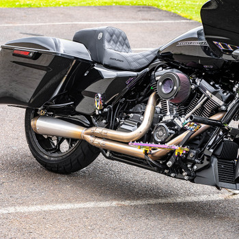 Jackpot RTX Riot 2-1 Shorty Exhaust for 2017-2020 Harley Touring - Stainless Steel