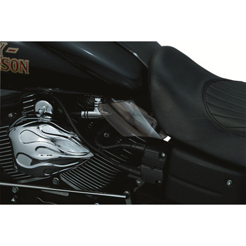 Kuryakyn Saddle Shield Frame Mounted Heat Deflector for 1999-2017 Harley Dyna