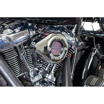 S&S Stealth Air Stinger Air Cleaner Teardrop Kit for 2017-2020 Harley M8 - Chrome