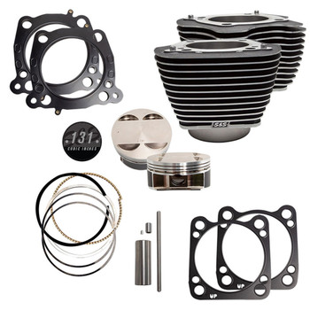 """S&S 131"""" Stroker Cylinder and Piston Kit with Highlighted Fins for Harley M8"""