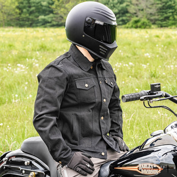 Thrashin Supply Highway Denim Riding Jacket - Black