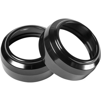 Performance Machine 49mm Fork Dust Caps for 2018-20 Harley Softail & 2006-17 Dyna - Black