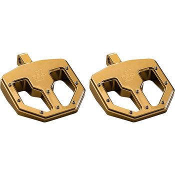 Pro One BMX V1 Foot Pegs for Harley - Gold