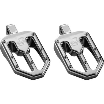 Pro One Moto V1 Foot Pegs for Harley - Chrome