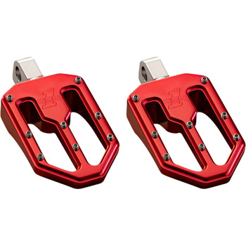 Pro One Moto V1 Foot Pegs for Harley - Red