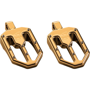 Pro One Moto V1 Foot Pegs for Harley - Gold