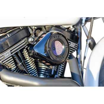 S&S Stealth Air Stinger Air Cleaner Teardrop Kit for 2008-2016 Harley Touring/Softail* - Black