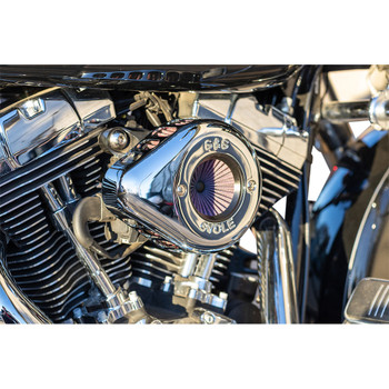 S&S Stealth Air Stinger Air Cleaner Teardrop Kit for 2001-2017 Harley Twin Cam -Chrome