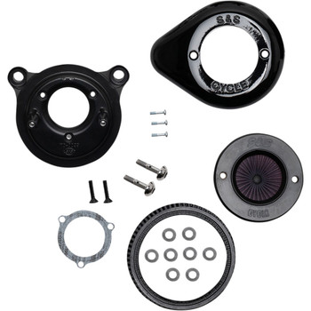 S&S Stealth Air Stinger Air Cleaner Teardrop Kit for 2001-2017 Harley Twin Cam - Gloss Black