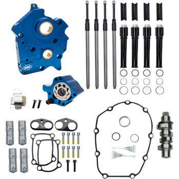 S&S Chain Drive Camchest Kit w/ 465 Cam for Harley M8 Oil-Cooled - Gloss Black