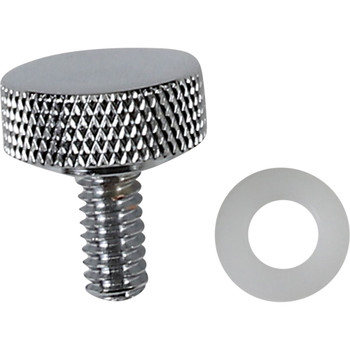 """Drag Specialties Smooth 1/4"""" - 20 Seat Mounting Knob for Harley - Chrome"""