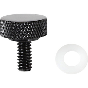 """Drag Specialties Smooth 1/4"""" - 20 Seat Mounting Knob for Harley - Black"""