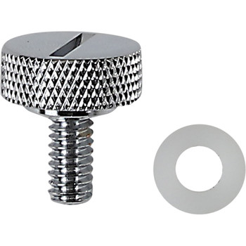 """Drag Specialties Slot 1/4"""" - 20 Seat Mounting Knob for Harley - Chrome"""